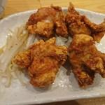 ふじ十 - 唐揚げセットの鶏の唐揚げ(ФωФ)サクサク美味い♪