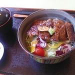 レストラン 青銅館 - 和風ステーキ丼950円