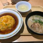 餃子の王将 - 料理写真:天津飯とミニラーメンのセット
