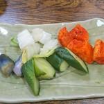清水寿司店 - 美味しいお漬物