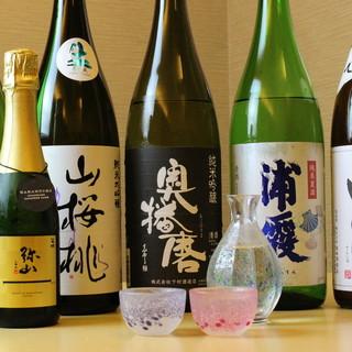 和食を引き立てる全国の日本酒・限定酒をご用意!