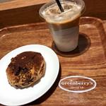 グリーンベリーズ コーヒー - ブラック&ホワイト、Latte(Iced)S