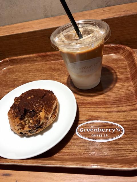 グリーンベリーズ コーヒー 三宮駅前店 - ブラック&ホワイト、Latte(Iced)S