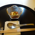 71166114 - 膳菜  唐黍豆腐 スプーンが意外と大きくて驚きました