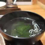 焼肉 乙ちゃん - わかめスープアップ