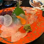 天ぷら亭 - ヒラメの昆布締め