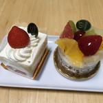 新宿高野 - ストロベリーショートケーキとフルーツロワイヤル('17/08/07)