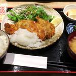 ぽん輔 - チキンカツ定食(790→500円)