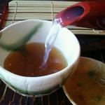 そばきり 萬屋町 助六 - とろみのある蕎麦湯