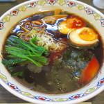 松虎亭 - 盛岡醤油老麺+半熟たまご
