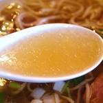 夜須製麺所 - 塩らぁめん  スープ