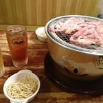 焼肉居酒屋 くまみちゃん  - セセリ祭 サラスパ(゚д゚)ウマー