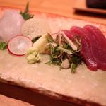 日本料理 e. - 平目と鰹のお造り