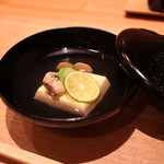 日本料理 e. - 卵豆腐のお吸い物