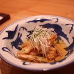 日本料理 e. - 鯛と牛蒡の揚げ出し