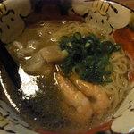 Bar MICHIya - この日の魚のアラでとっただしの塩ラーメン