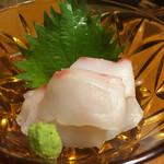 うどん笑吉 - 石鯛の刺身