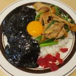 キッチンABC - オリエンタルライス&黒カレー+カニクリームコロッケ1