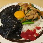 キッチンABC - オリエンタルライス&黒カレー+カニクリームコロッケ2