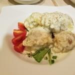 Soba Ristorante na-ru - 蕎麦がきの天ぷら チーズフォンデュ風