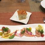 セストセンソ - 前菜とフォッカッチャ