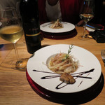 71187238 - フォアグラ・ポルチーニ茸・茗荷のスパゲッティ