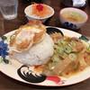 ゲンキョウワン - 料理写真:ガイパップリラーカオ(週替わりサービスランチ)