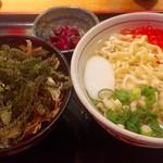みやらび - ミニ海ぶどう丼と半そばランチ 950円