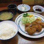 とん将 - ランチ ヒレかつ 900円