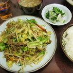 大さ和 - 料理写真:肉野菜炒め定食750円
