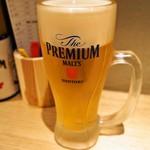 すし吉三平 - 生ビール