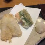 71193846 - 昼膳、天ぷら。キスの後ろに鱧の天ぷらも隠れていました。