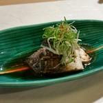71196035 - 炙りポン酢〆の魚(名前失念)。