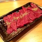 ミートバル 肉たらし - 本日の刺身(ハツ刺し)