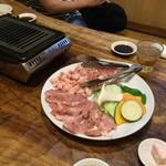 勢龍 - 【鶏の塩焼き盛り合わせ(2~3人前/2,100円)】少し離れて撮影