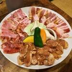 勢龍 - 料理写真:たれ焼き盛り合わせ(2~3人前/3,700円)