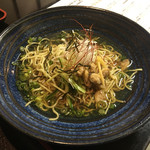 Akihabaragyokoukaikai - 冷やし貝そばとミニ海鮮丼850円