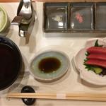 銀座 天ぷら 阿部 - お通しのマグロ¥800