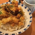 銀座 天ぷら 阿部 - かき揚げ丼