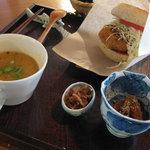 茶の子 - ハンバーガーセット