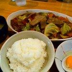 博多鉄板よかろうもん - スタミナ焼き ¥750 + ご飯小 ¥100