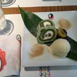 よーじやカフェ - よーじや和風ロールケーキ。