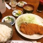 楽天 - とんかつ定食  ¥800-