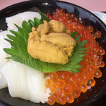 71203806 - 三色丼(ウニ・イカ・イクラ)@2,680円(税込)