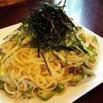 71203968 - 「梅とイカとオクラのスパゲティ」¥840税別