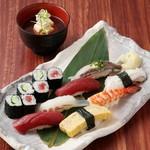 よし寿司 - 2番人気!『上寿司』 一品料理と共に…