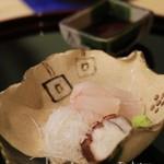 竹久 - お造り 王紋ハタと明石のタコ