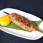 麻布 ふじ嶋 - つくねは鶏の挽肉を絶妙なバランスで配合しております!