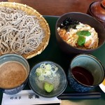 71207396 - くるみ汁せいろ+小カツ丼