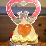 Q-pot CAFE. - クリスタルカリヨン 中心がイチゴのゼリー、レモンクリーム